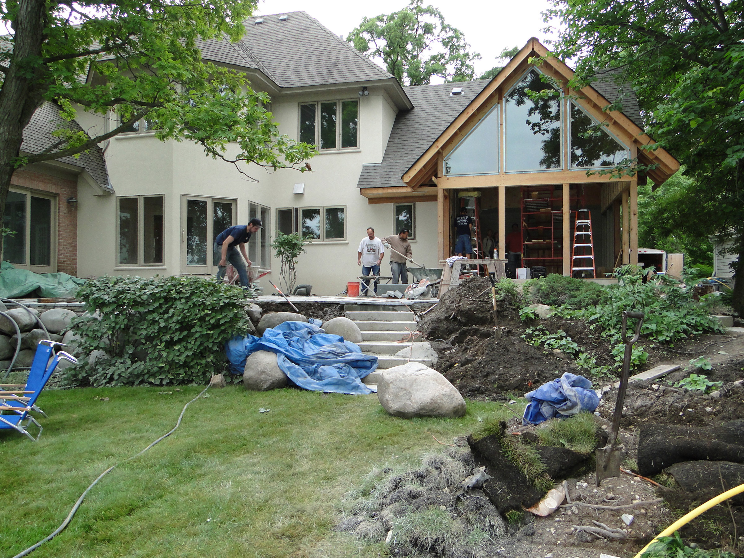 Patio renovation work, another view