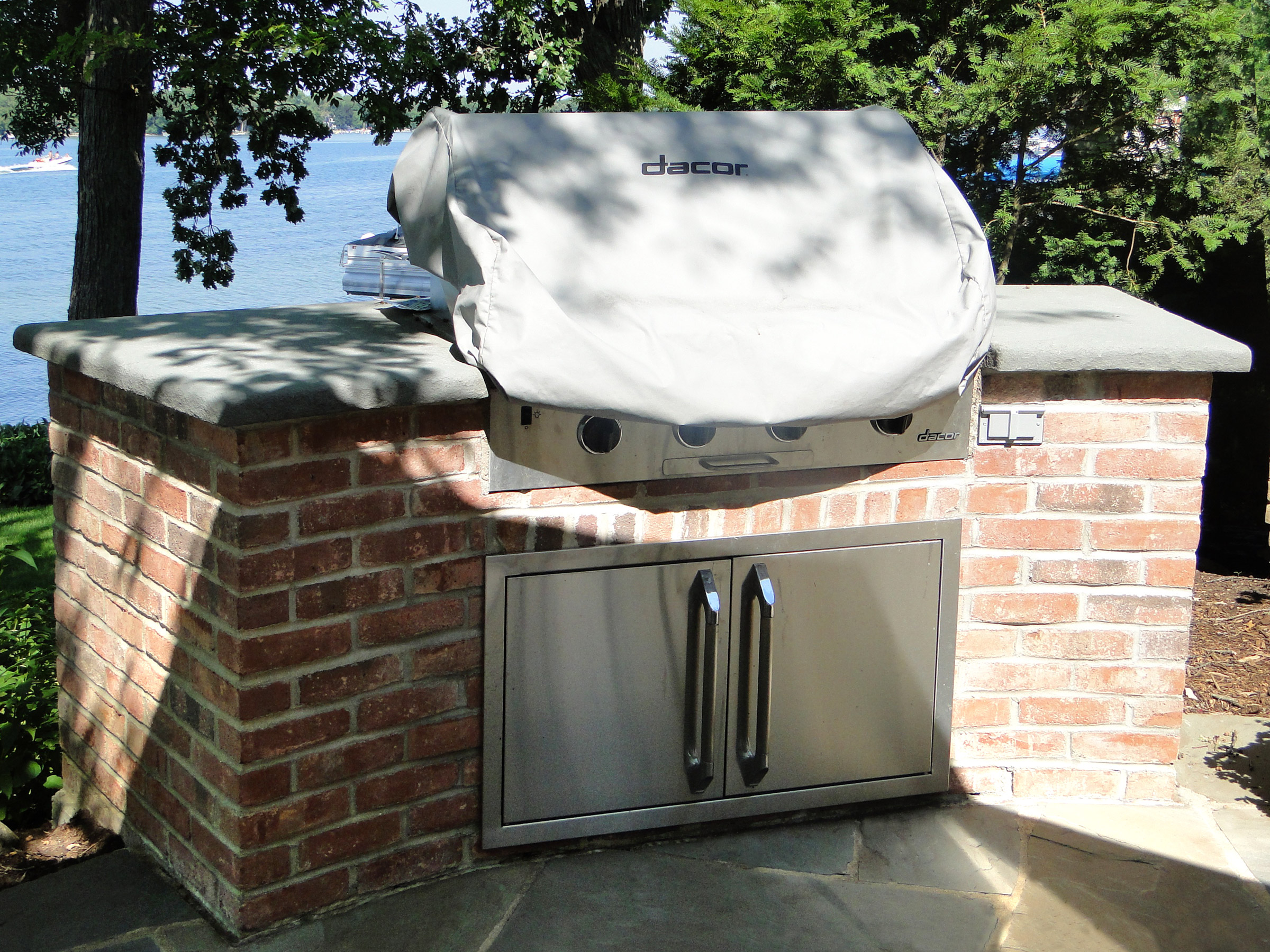 Now that's a grill! And the brick matches the house!
