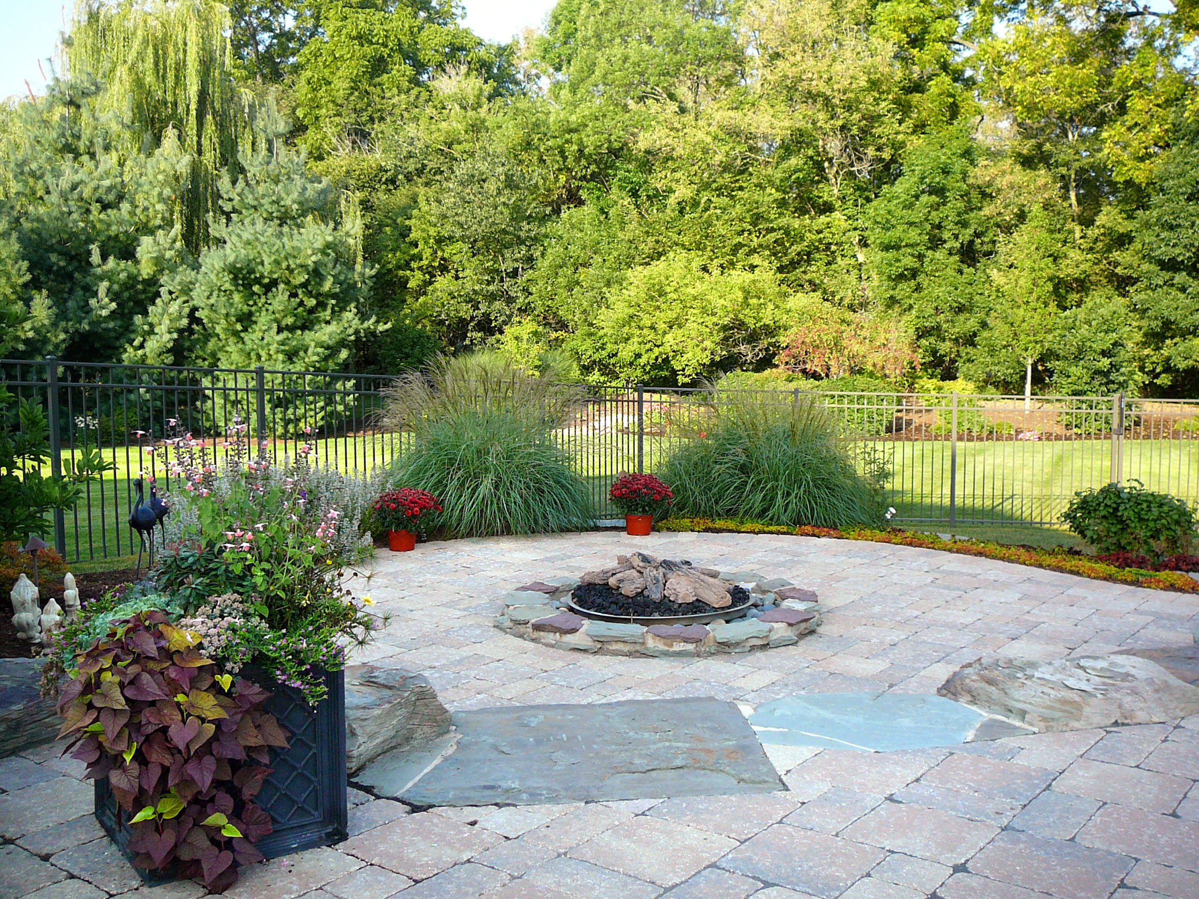 The firepit will be enjoyed well into the autumn months