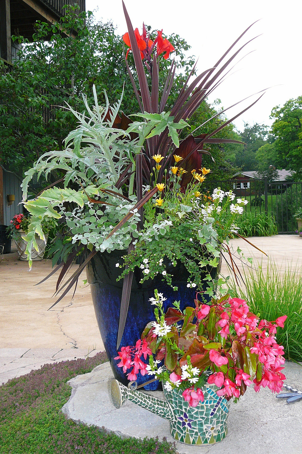 Mixing different textures and colors adds interest to your garden