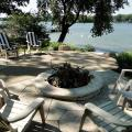 Eden flagstone patio and fire pit will be enjoyed all year long.